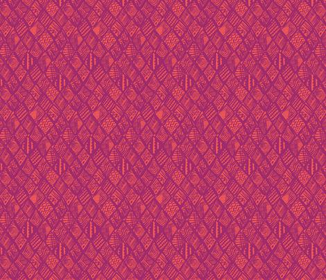 African Diamond in purple & orange fabric by angie_mac on Spoonflower - custom fabric