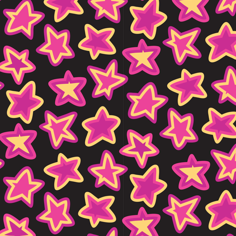 Star Striped Scatter fabric by ghennah on Spoonflower - custom fabric