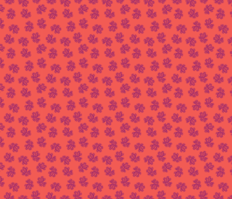 Indian Dot Paisley in purple & orange fabric by angie_mac on Spoonflower - custom fabric