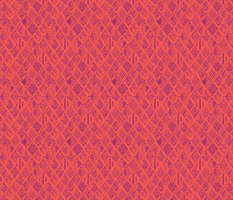 African Diamond in purple & orange fabric by angie_mac on Spoonflower - custom fabric
