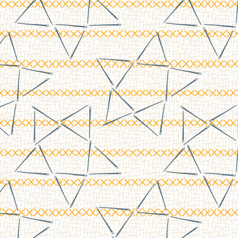 Sewing Kit Stars & Stripes fabric by mongiesama on Spoonflower - custom fabric