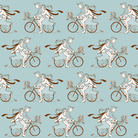 cycle love fabric by theboutiquestudio on Spoonflower - custom fabric