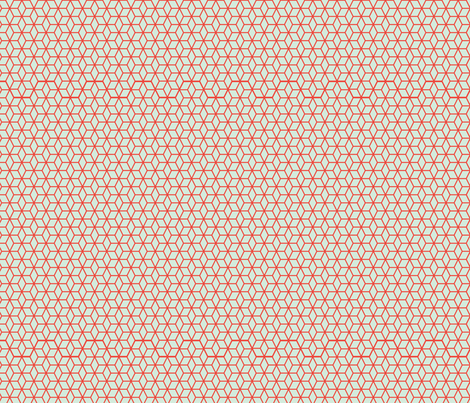 Blue and Red Star Lattice fabric by jgpatterns on Spoonflower - custom fabric