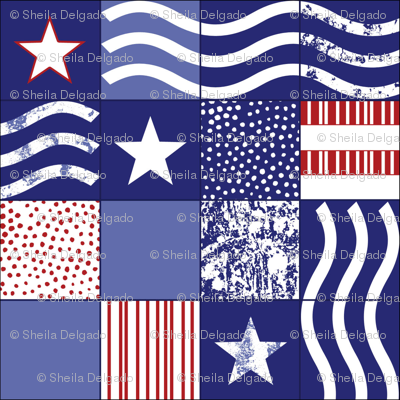Stars and Stripes Cheater Quilt