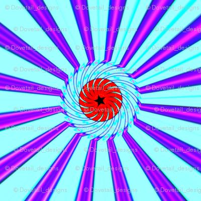 Swirled Star and Stripes