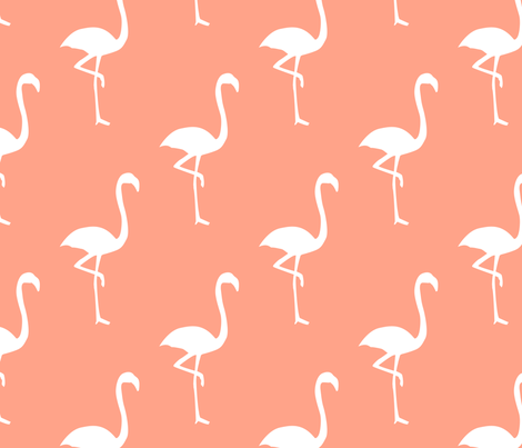 Pink Flamingos fabric by alihenrie on Spoonflower - custom fabric