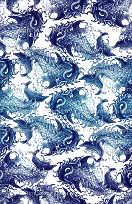 Blue Wave Koi