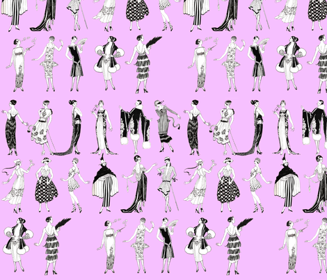 La Vie Parisienne - mauve fabric by jenithea on Spoonflower - custom fabric