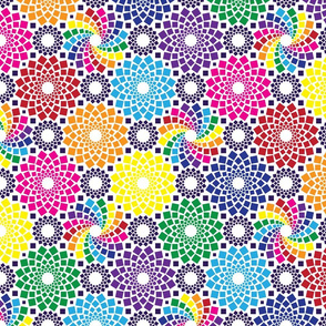 Kaleidoflowers (Rainbow)