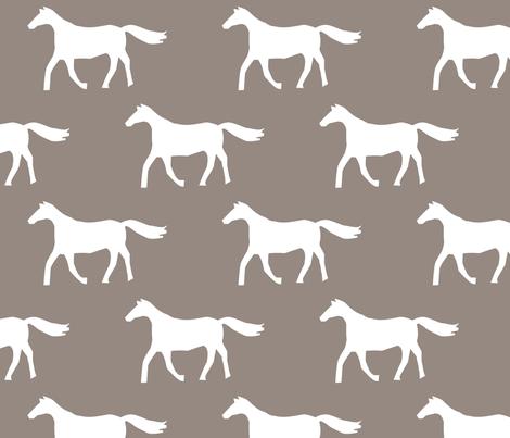 Brown Horses fabric by alihenrie on Spoonflower - custom fabric