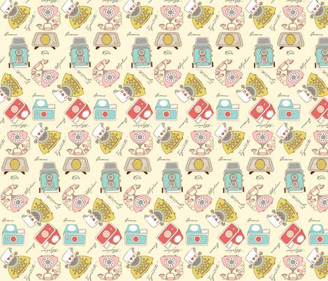 old technology fabric by theboutiquestudio on Spoonflower - custom fabric