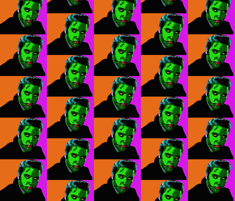 Zombie Elvis fabric by poofhawk on Spoonflower - custom fabric