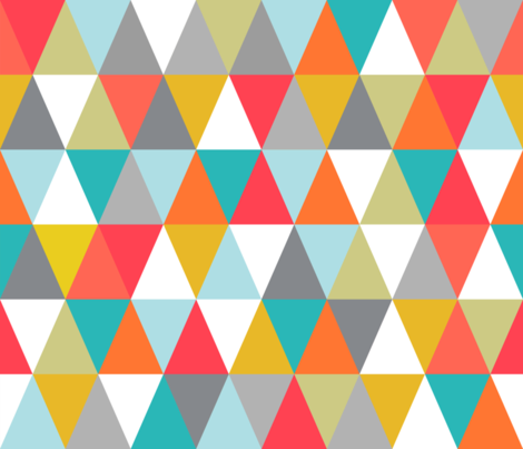 triangle confetti fabric by amy_springer on Spoonflower - custom fabric