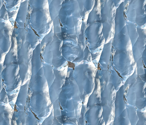 Iceberg Wall 1 fabric by animotaxis on Spoonflower - custom fabric