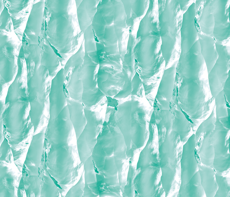 Iceberg Wall 2 fabric by animotaxis on Spoonflower - custom fabric