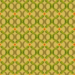 Papa's pomegranate lattice leaf