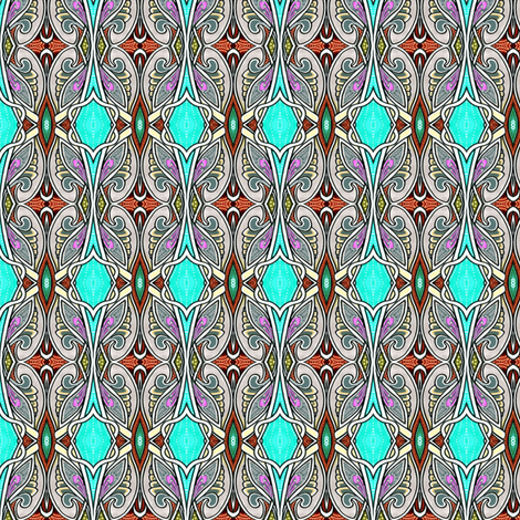 Flight of the Paisley Butterfly fabric by edsel2084 on Spoonflower - custom fabric
