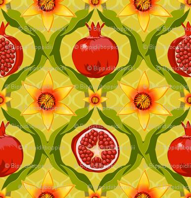 Papa's pomegranate flowers (yellow)