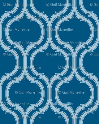Turquoise Tile Print
