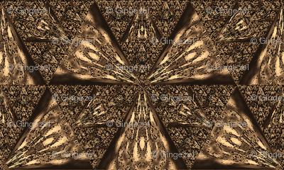 Dark Brown Sierpinski Triangle © Gingezel™ 2012