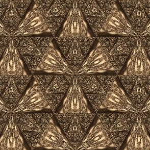 Dark Brown Sierpinski Triangle © Gingezel™ 2012