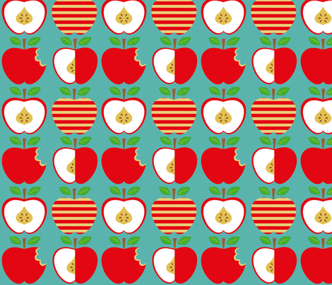 apples fabric by jodysart on Spoonflower - custom fabric
