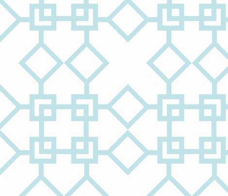 Climb the Trellis Aqua fabric by honey&fitz on Spoonflower - custom fabric