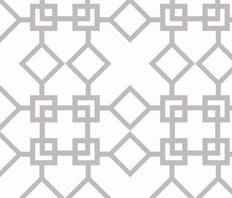 Climb the Trellis Chinchilla fabric by honey&fitz on Spoonflower - custom fabric