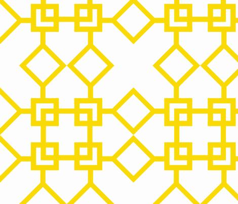 Climb the Trellis Sunshine fabric by honey&fitz on Spoonflower - custom fabric