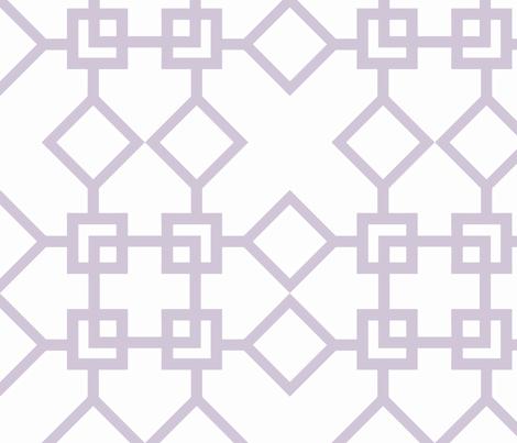 Climb the Trellis Wisteria fabric by honey&fitz on Spoonflower - custom fabric