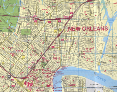 New Orleans Map Fabric Happykathy Spoonflower