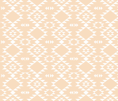 Navajo - Coral White fabric by kimsa on Spoonflower - custom fabric