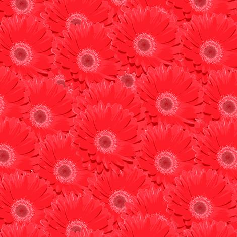 gerbera_red fabric by owls on Spoonflower - custom fabric