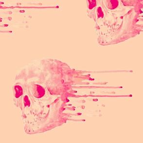 Watercolor Skull-ed
