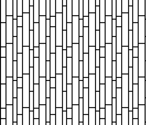Subway Tiles in black and white fabric by pearl&phire on Spoonflower - custom fabric