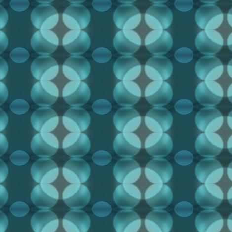 Teal Grey Bokeh Dots fabric by bohobear on Spoonflower - custom fabric