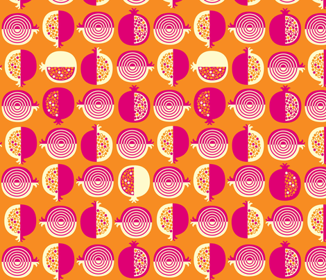 Pomegrantes fabric by amel24 on Spoonflower - custom fabric