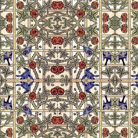 Rose Lattice fabric by flyingfish on Spoonflower - custom fabric