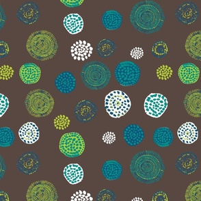 Australian Dots in blue & green