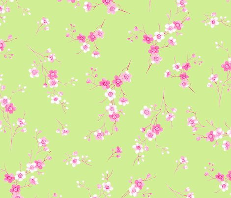 Blossom lime fabric by neatdesigns on Spoonflower - custom fabric