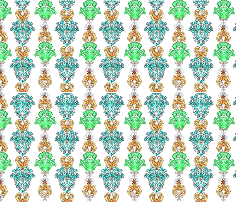 Watercolor Damask fabric by angie_mac on Spoonflower - custom fabric