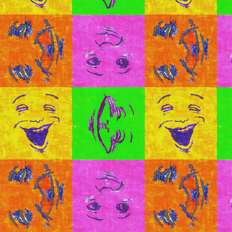 Happy Faces_6_ Superbrights fabric by tallulahdahling on Spoonflower - custom fabric