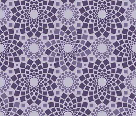 Kaleidoflowers (Purples) fabric by robyriker on Spoonflower - custom fabric