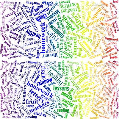 primary age rainbow words (higgeldy piggeldy)