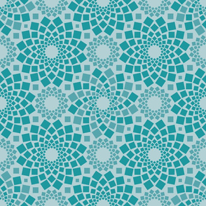 Kaleidoflowers (Teal)