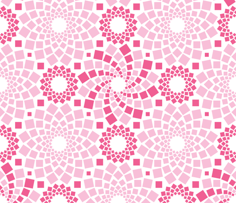 Kaleidoflowers (Pinks) fabric by robyriker on Spoonflower - custom fabric
