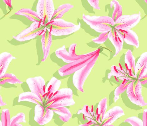Lily fabric by natalie_engdahl on Spoonflower - custom fabric