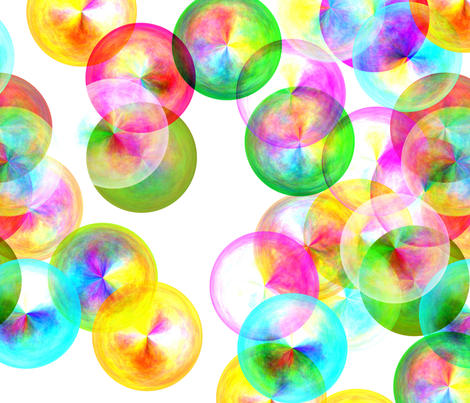 Bubbles fabric by feebeedee on Spoonflower - custom fabric