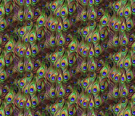 Peacock Feathers Invasion - Wave fabric by bonnie_phantasm on Spoonflower - custom fabric
