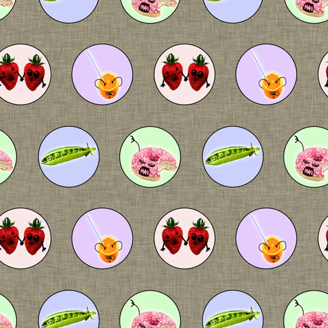 Funny Foody ~ small fabric by glanoramay on Spoonflower - custom fabric